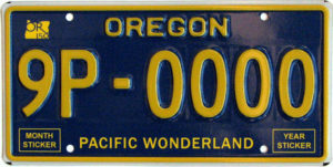 Oregon Pacific Wonderland Plate